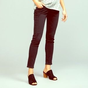 AG Goldschmied Black Destroyed Maternity Jeans